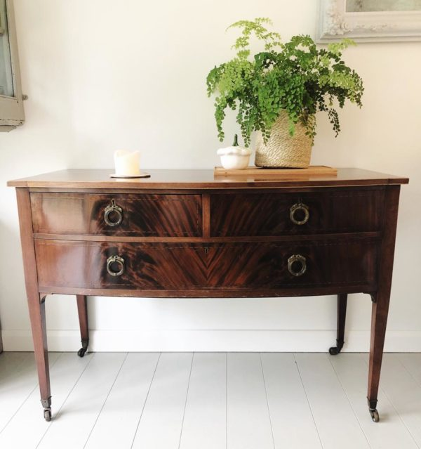 Victorian bow front console table