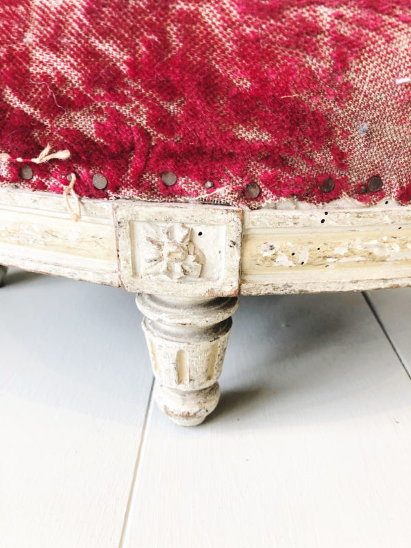 19th century Louis Philippe upholstered footstool