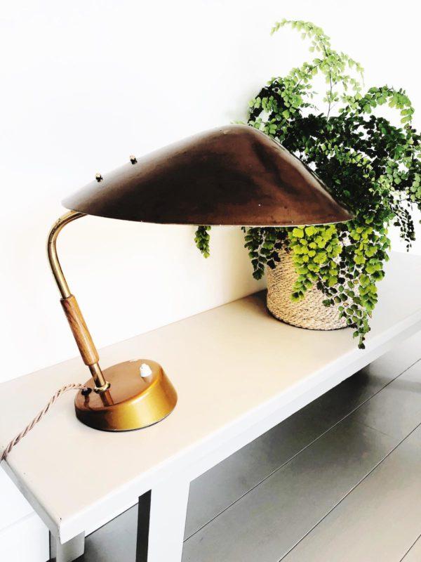 c1930 Bauhaus light from Vienna in bronze colour