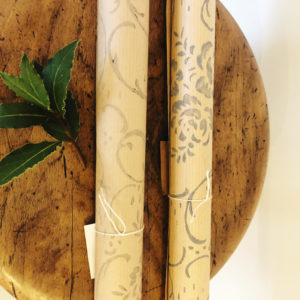 Beautiful and timeless hand printed wrapping paper, made for us by Martina at Volfi Design