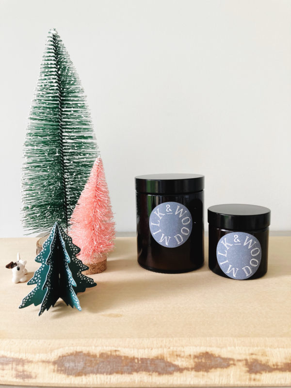 Little Christmas tree hand poured soy wax 180ml candle