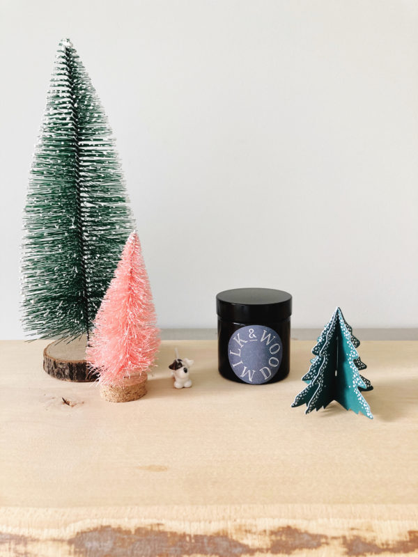 Little Christmas Tree hand poured soy wax candle 60ml