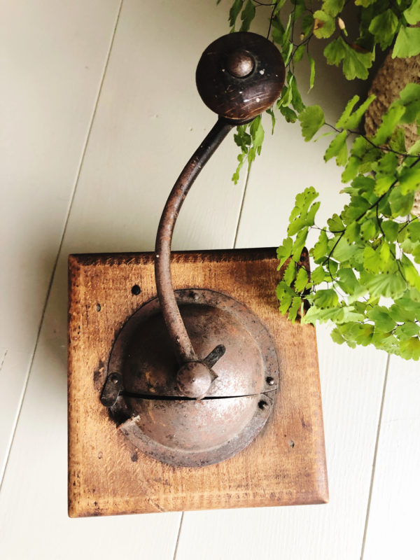 1930s vintage French moulin cafe mechanical coffee grinder