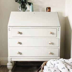 timeless vintage painted bureau with storage