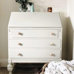 timeless vintage painted bureau with storage