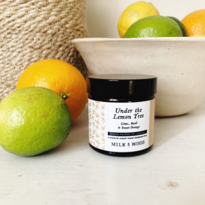 under the lemon tree hand poured soy wax candle essential oils
