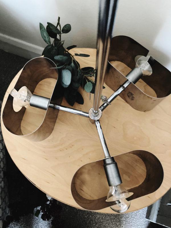 Italian mid century chrome sputnik chandelier